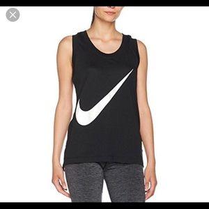 Nike Women's Swoosh Black Tank Top